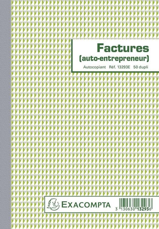 Facturier pour auto entrepreneur a5 exacompta 13293e e statuts - Creation d une sci familiale ...