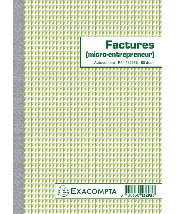 Facturier pour Micro-entrepreneur A5 148 x 210 mm ...