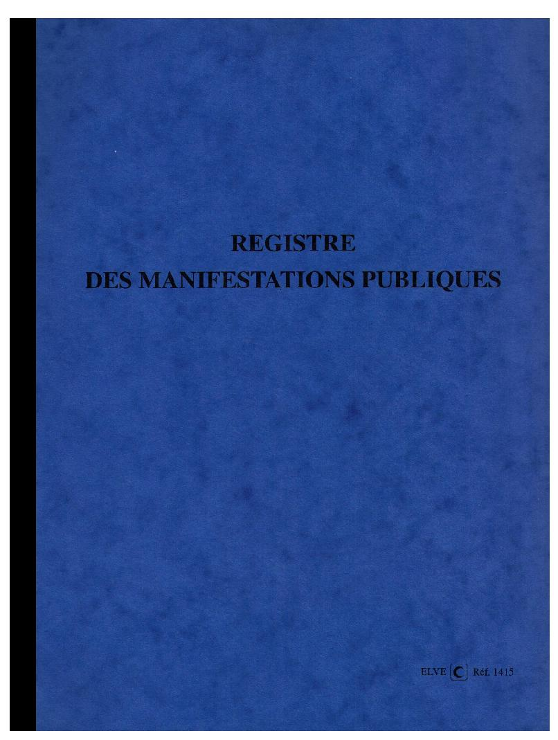 e statuts livre de police vide greniers et brocante manifestations publiques registre elve. Black Bedroom Furniture Sets. Home Design Ideas