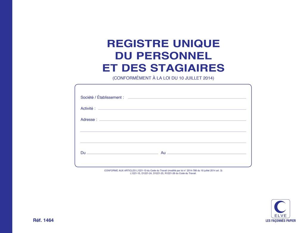 Registre du personnel et stagiaire obligatoire elve 1464 gestion des employ s e statuts - Creation d une sci familiale ...